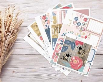 Planner Stickers   Weekly Kit - Sweet Florals   Erin Condren Vertical