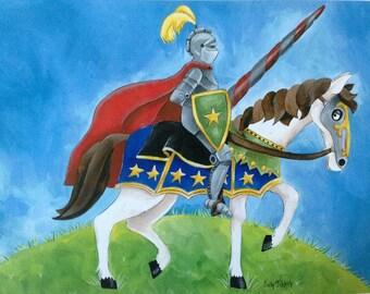 Tapferer Ritter und sein Pferd