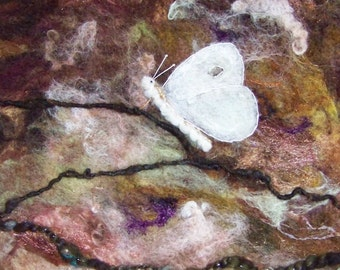 Sale! No.740 Branch Out 1 - Needlefelt Art XL - Wool Painting