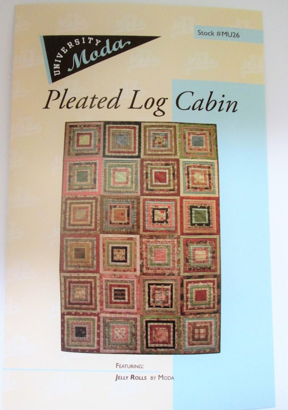 Clearance   Pleated Log Cabin Quilt Pattern By University Moda From  QuiltiliciousFabric On Etsy Studio