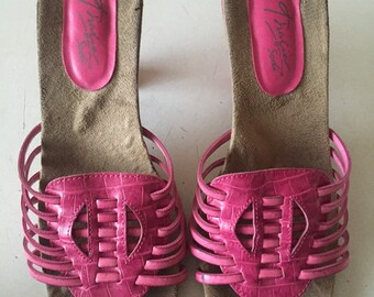 huarache style sandals 6, women's size 6, womens vintage sandals, huarache sandals, womens sandals 6, 90s shoes