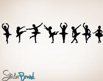 "Vinyl Wall Decal Sticker Little Dancers Children Ballerinas 7""H x 33""W item 816-7x33"