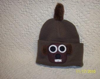 Groundhog Hat, Handmade Knit//Groundhog Day//Punxsutawney, Pa//February 2nd//Groundhog Souvenir//Hat//Winter