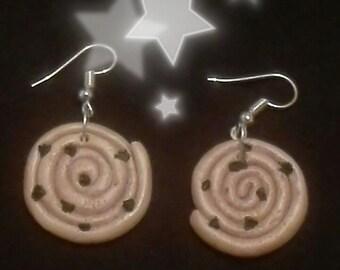 Bread in polymer clay earrings