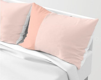 Peach Bed Pillow Covers - Peach Bedroom Decor - SET OF TWO - Enjoy Free Shipping!