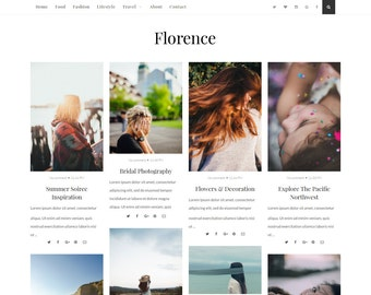 SALE ! Florence - Responsive and Beautiful Blogger Template - Blogspot template