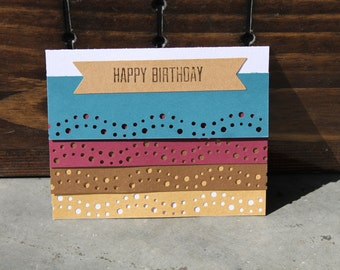 elegant birthday cards w/ envelope 12pk, flat 5X4 birthday cards
