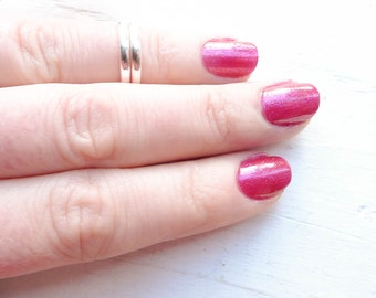 Thin Blank Rings Size 4 Knuckle or Midi Size Sterling Silver Band 2mm Plain Finger Rings (RHSR224)