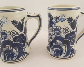 Delft Blue coffee mugs from Holland