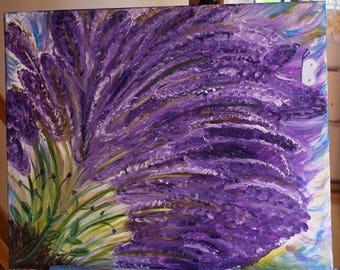 Original Figurative painting Lavender burst