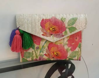 Clutch in watercolor Flowers