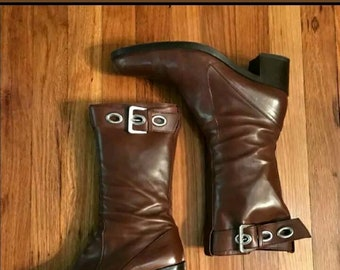 Vintage YSL leather boots Size 9