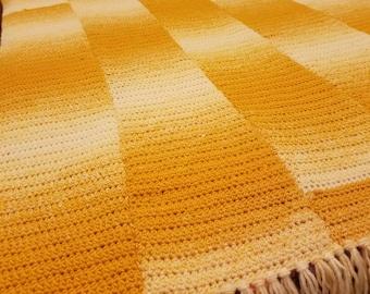 Beautiful Handmade Ombre Afghan