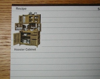 Recipe Cards Hoosier Cabinet 20 cards 4 x 6
