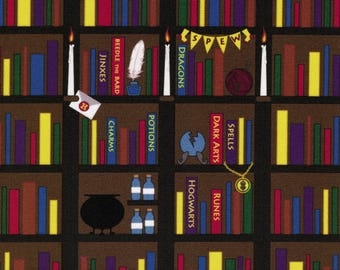 Hermione's Library: Harry Potter fabric print