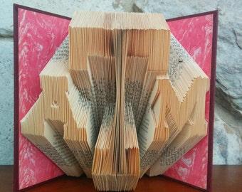Texas A&M - Folded Book Art - Fully Customizable, graduation