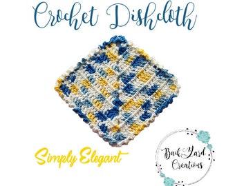 Simply Elegant Crochet Dishcloth, Kitchen Dishcloth, Crochet Dishcloth, Washcloth, Texture Dishcloth, Kitchen Decor, Ready to Ship