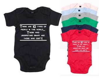 Science Binary Baby Bodysuit