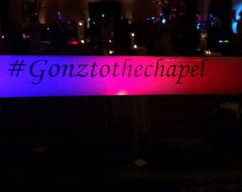 100 Pack - Customized LED Foam Sticks - Promotional Party Sticks - Awesome Party Props to Get Guests Dancing - Customize w/ Your Hashtag