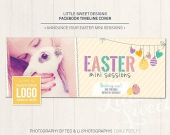 Easter Facebook Timeline Cover - Photoshop Template for photographers (FBTL11) - INSTANT DOWNLOAD