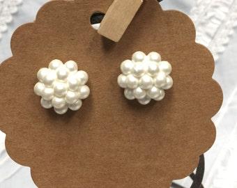 Elegant Pearl Cluster Earrings