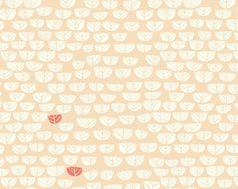 Birch Hidden Garden Sproutlet Shell Organic Cotton Fabric