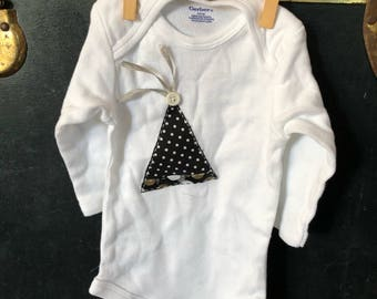 3-6 month long sleeve onesie Ring in the New Year