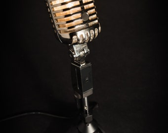 Retro Microphone Lamp