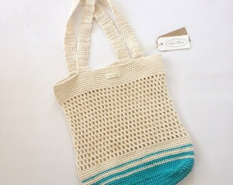 String Bag with coloured band