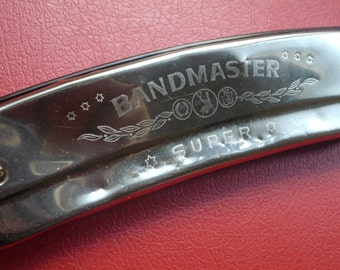 Vintage Harmonica BandMaster super Key C Germany