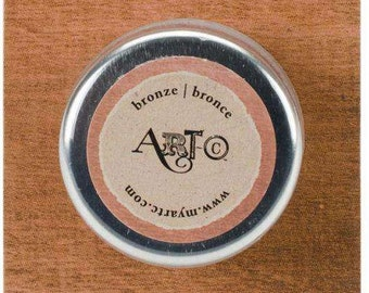 Art-C Wax Paste BRONZE Metallic 20ml  beeswax based Metal gloss, professional quality and highly pigmented wax paste
