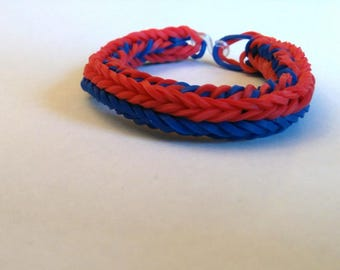 Baseball Fishtail Rainbow Loom (small)