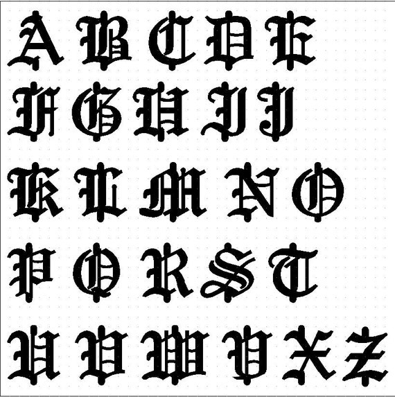 Font Old English Aprilonthemarch