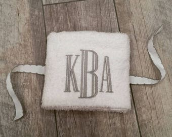 Sophisticated Monogrammed Sweat Towel, Gym Towel, Bathroom Hand Towel, Customizable Gifts, Sweat Towel