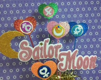 sailor moon set 6 pieces  handmade in fomi