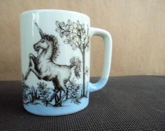 Vintage Prancing Unicorn Mug