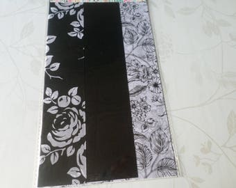 x 3 large sheet of paper decopatch 60 x 40 cm black/white