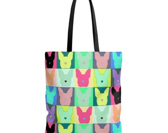 Patchwork Boston Terrier Tote Bag