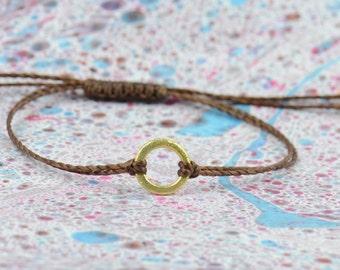 Karma gold bracelet