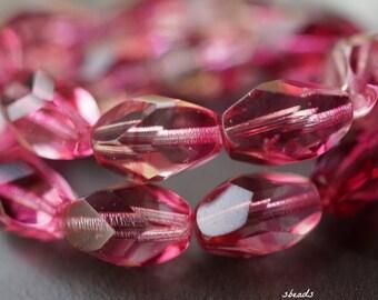 Fuschia Infusion, Druk Beads, Czech Beads, Beads, D98