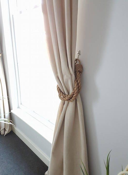 Thick Twist 3 Manila Rope Curtain Tiebacks Industrial
