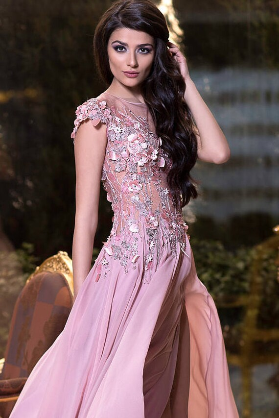 Rose Ash Mutter der Brautkleid lange Abendkleid Kleid Prom