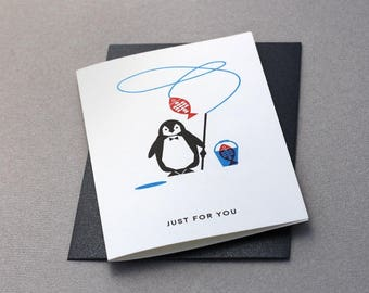 Card Penguin - Just for you