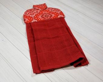 Bandana Kitchen Hand Towel/ Home Decor/ Kitchen Decor/ Housewarming Gift/ Wedding Gift/ Birthday Gift/ Tea Towel