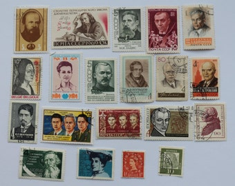 Set of 20 pcs Postal, Postage Stamp, Collecting, Philately # 5