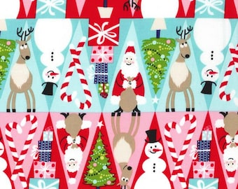 Holiday Row Multi Color  ~ Holiday Row Collection for Michael Miller Fabrics