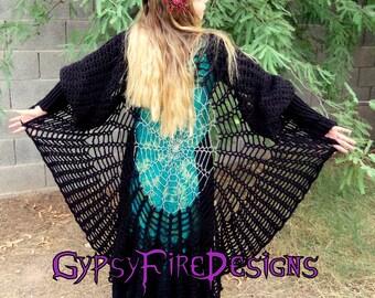 Stevie Nicks Mandala Sweater Coat Choose Your Color