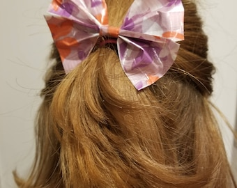 Duct Tape Hair Bow with Ponytail Holder