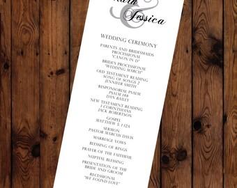 Traditional Wedding Program Printable