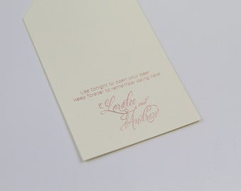 Personalized Thank You Wedding Favor Tags